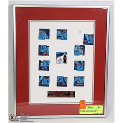 NEW COCA-COLA 2006 TORINO OLYMPIC PINS IN A FRAME