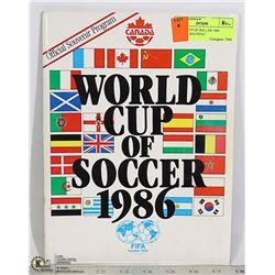 1986 SOCCER WORLD CUP OFFICIAL SOUVENIR