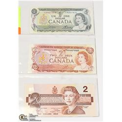 SHEET OF COLLECTIBLE CANADIAN BILLS: