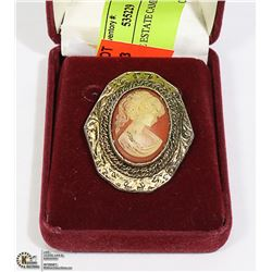 VINTAGE ESTATE CAMEO BROOCH
