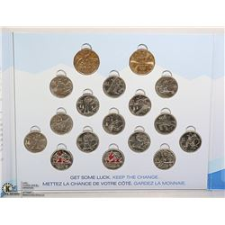 RCM VANCOUVER 2010 CIRCULATION COINS COMPLETE IN