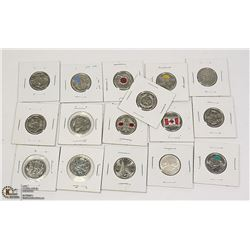 COMMEMORATIVE CANADIAN QUARTERS INCLUDING ONE
