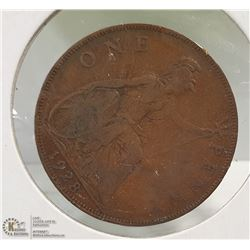 BRITISH 1928 LARGE PENNY