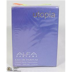 UTOPIA  ALFA EAU DE PARFUME, 3.3FL OZ, MADE IN