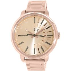 NEW DIESEL ROSE GOLD TONE 49MM MSRP $236 WATCH