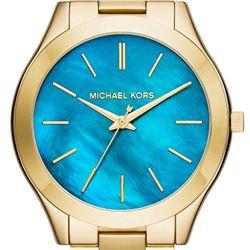 NEW MICHAEL KORS SLIM RUNWAY BLUE PEARL MSRP $261