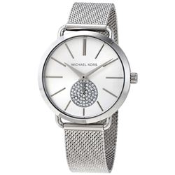 NEW MICHAEL KORS 38MM CRYSTAL SUBDIAL MSRP $305