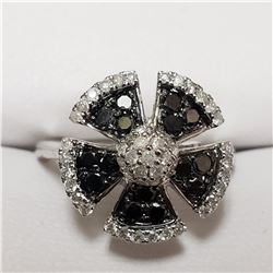 67) 14KT WHITE GOLD FANCY COLORED BLACK DIAMOND