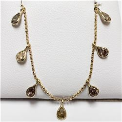 56) 14KT YELLOW GOLD FANCY COLORED BROWN DIAMOND