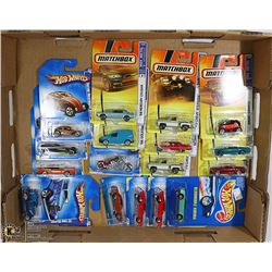 BOX OF 17 HOTWHEEL/ MATCHBOX COLLECTIBLE CARS