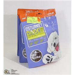 3PCS OF DOG TURKEY JERKY GLUTEN FREE 18-4OZ PKS