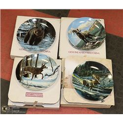 4 SET NA WILDLIFE COLLECTOR PLATES