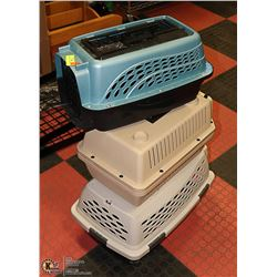 3 SMALL ANIMAL CARRIERS
