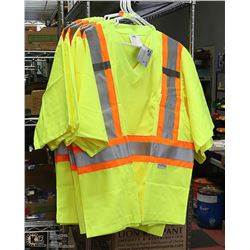 LOT OF 5 NEW CONDOR REFLECTIVE SAFETY T-SHIRTS.