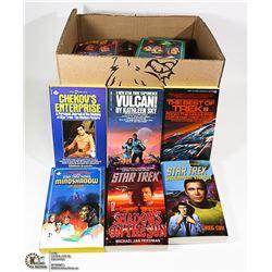 BOX OF STAR TREK BOOKS.  ALL MINT CONDITION UNREAD