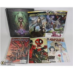 ARMY OF DARKNESS AND STAR CRAFT COMICS AND HARD