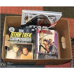 BOX OF GRAPHIC NOVELS COMICS SCI-FI BOOKS