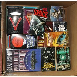 BIG BOX OF SCI-FI BOOKS.  ISAAC ASIMOV, BATTLESTAR