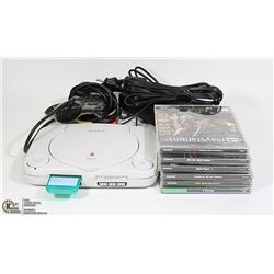 ORIGINAL PLAYSTATION 1 WITH 6 GAMES, 1 CONTROLLER
