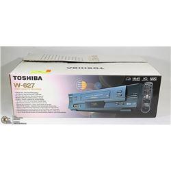TOSHIBA W-627 VCR WITH REMOTE IN BOX