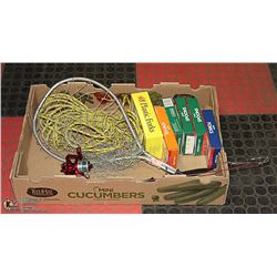 FLAT WITH FISHING/ CAMPING GEAR INCL. ROD