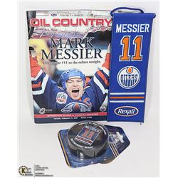 LOT OF OILER'S MESSIER BANNER COLLECTIBLES: