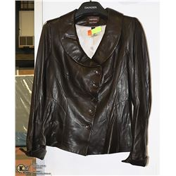 DANIER BROWN LEATHER LINED JACKET