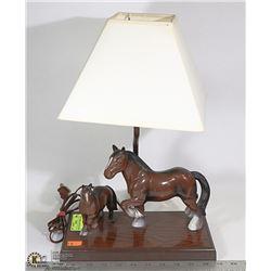"""VINTAGE PLASTIC HORSE LAMP 15"""" TALL"""