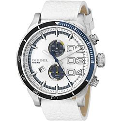 NEW DIESEL CHRONOGRAPH WHITE DIAL 51MM MSRP $310