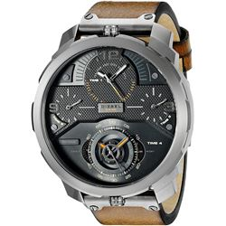 NEW DIESEL 4 TIMEZONE BLACK DIAL 60MM MSRP $425