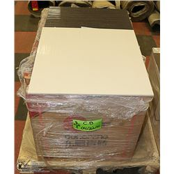 PALLET OF FLOOR TILE 185 SQFT WATERFALL WHITE AND