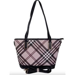 NEW BROWN PLAID BURBERRY STYLE SHOULDER PURSE
