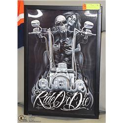 RIDE OR DIE 3D WALL ART 14 X 20.5