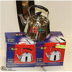 PACK OF 2 HIGH QUALITY 2LITRE KETTLES