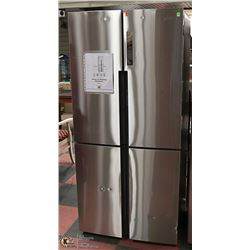 HAIER STAINLESS STEEL QUAD DOOR FRIDGE MODEL