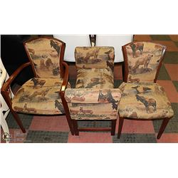 3PC ANIMAL PATTERN SEATING SET