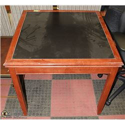 HOTEL ROOM FAUX LEATHER TOP TABLE 32 X 32 X 31