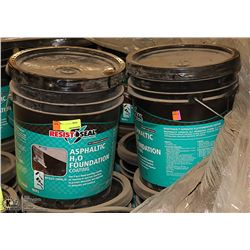LOT OF TWO 18.9LITRE PAILS OF RESIST SEAL FOUNDATION