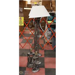 "4PC METAL LAMP SET TWO 61"" TALL AND TWO 29"" TALL"