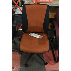 BLACK & ORANGE HYDRAULIC OFFICE CHAIR