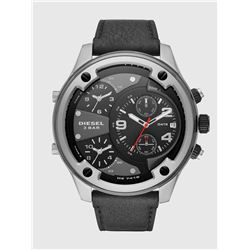 NEW DIESEL 4 TIMEZONE 56MM LEATHER BAND MSRP $540