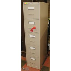 NEW GLOBAL 5 DRAWER FILING CABINET 26.5 X 15 X 64