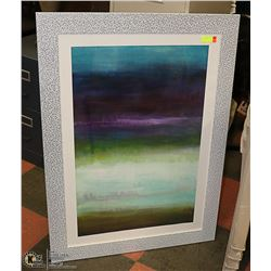 LARGE DECORATIVE FRAMED WATER COLOUR