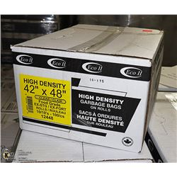 """CASE OF 100 - 42"""" X 48"""" CLEAR GARBAGE BAGS"""