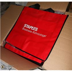 CASE OF 100 - STAPLES BRAND RED/BLACK REUSABLE