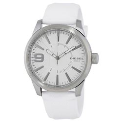 NEW DIESEL WHITE DIAL/WHITE RUBBER BAND MSRP $199