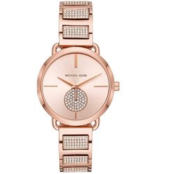 NEW MICHAEL KORS ROSE GOLD TONE WATCH MSRP $415