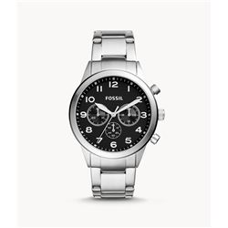 NEW FOSSIL TRIPLE CHRONO 43MM BLACK DIAL MSRP $239