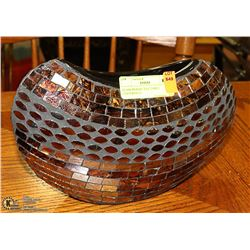 GLASS MOSAIC TILE TABLE CENTERPIECE