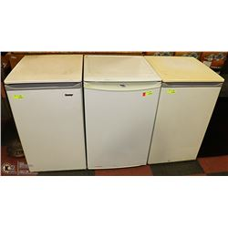 LOT OF 3 WHITE BAR FRIDGES